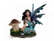 Collectable Fairy with Toadstool Figurine Magical Sculpture Statue Ornament